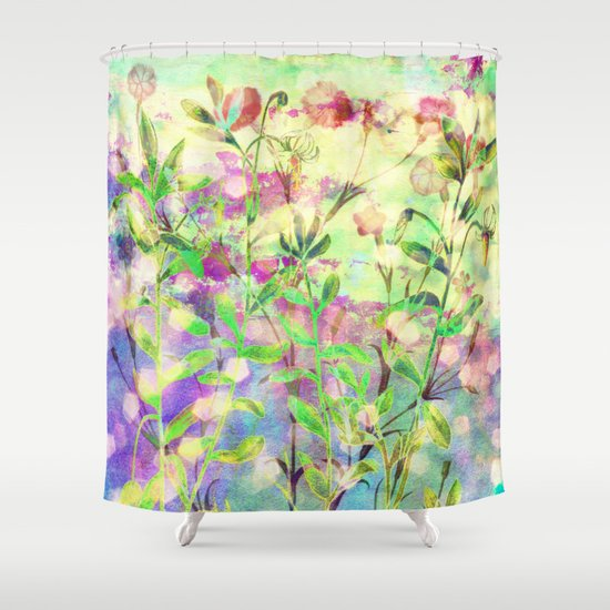 simple flowers Shower Curtain by Clemm