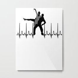 Heartbeat - Dancing Metal Print