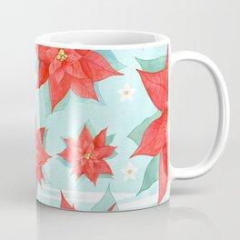 Red poinsettia #1 Coffee Mug