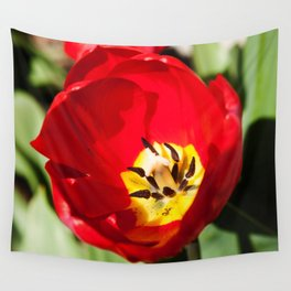 Inside of a Tulip Photography Print Wall Tapestry
