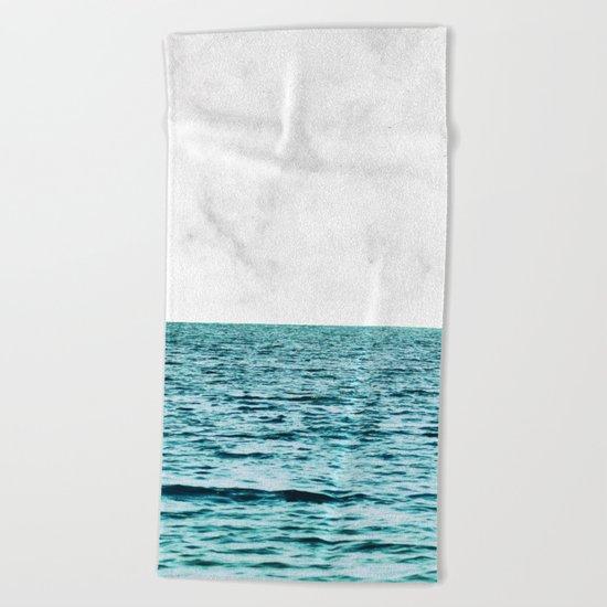 Ocean + Marble || #society6 #decor #buyart Beach Towel