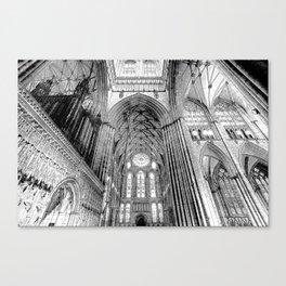 York Minster Art Sketch Canvas Print