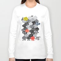 family Long Sleeve T-shirts featuring Family by inkdesigner