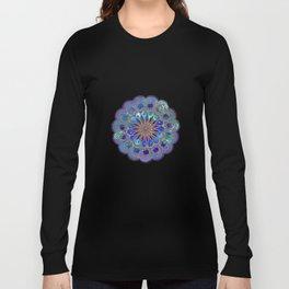 Mandala with Silk Effect Long Sleeve T-shirt