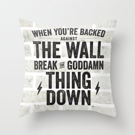 Suits - When You're Backed Against The Wall Throw Pillow