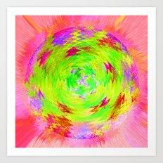 Neon circle Art Print