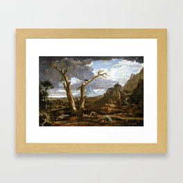 Washington Allston Elijah in the Desert Framed Art Print