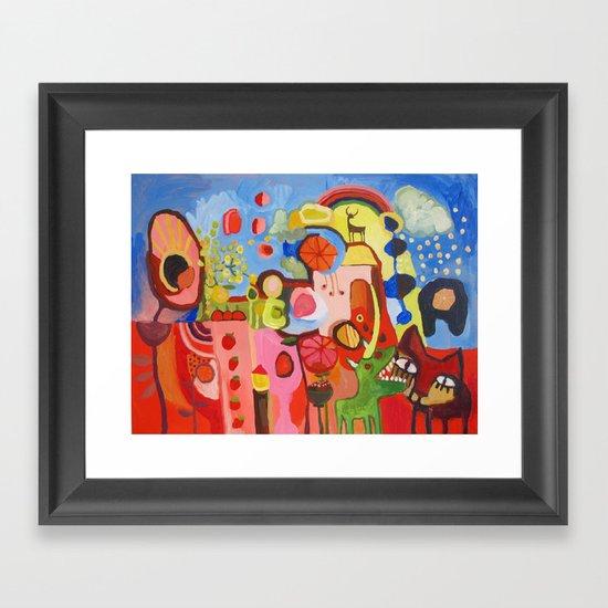 """""""Je t'aime tellement, je te mange""""  Framed Art Print"""