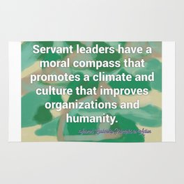 Servant Leadership and a Moral Compass Rug