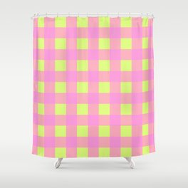 OVERLAY FLUORESCENT PINK Shower Curtain