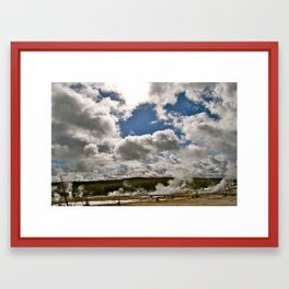 Touch the Clouds Framed Art Print