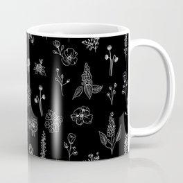 Black Wildflowers S Coffee Mug
