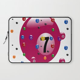 billiard ball ball game pink Laptop Sleeve