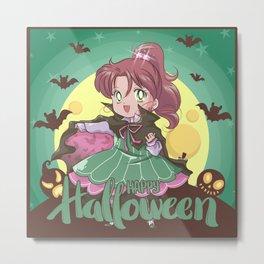 Happy Halloween Makoto Metal Print