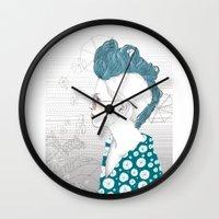 punk Wall Clocks featuring Punk by katiwo