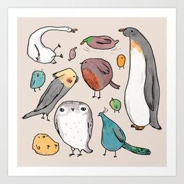 Lump Birds Art Print