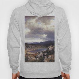 Hans Gude Painting -  H Ifjell 1857  | Reproduction | Norwegian Art Hoody