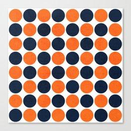 navy and orange dots Leinwanddruck