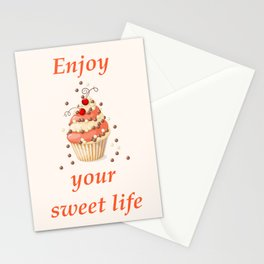cupcake with currant Stationery Cards