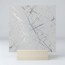 Silver Splatter 089 Mini Art Print