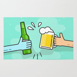 Beer understands! Rug
