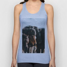 Horses in Iceland - Wildlife animals Unisex Tank Top