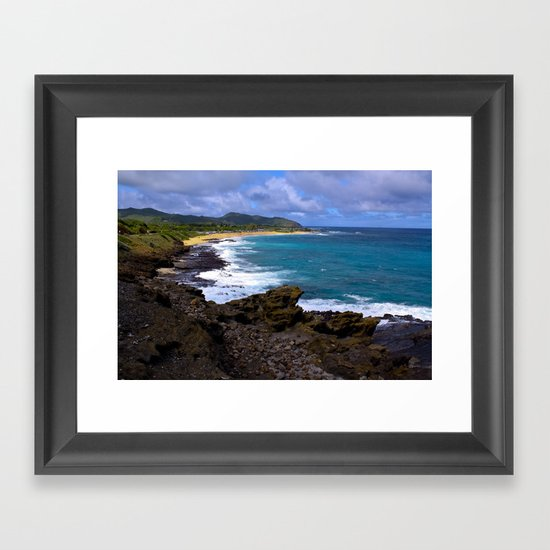 """Hanauma Bay"" Framed Art Print"