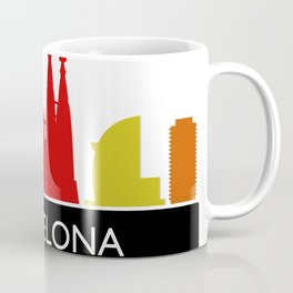 barcelona skyline Coffee Mug