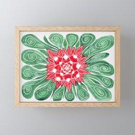 Red Flower Framed Mini Art Print