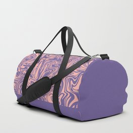 Liquid Swirl - Peach Bud and Ultra Violet Duffle Bag