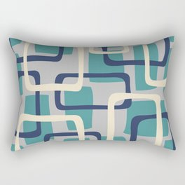 Mid Century Modern Overlapping Squares Pattern 138 Rectangular Pillow