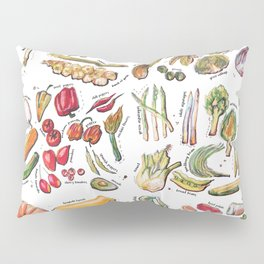 Vegetable Encyclopedia Pillow Sham