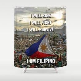 Survive Filipino Shower Curtain