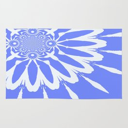 The Modern Flower Baby Blue & White Rug