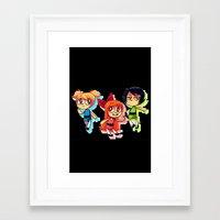 powerpuff girls Framed Art Prints featuring PowerPuff Girls by lemonteaflower