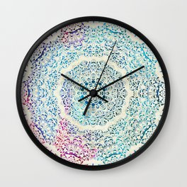 Watercolor Mandala Wall Clock