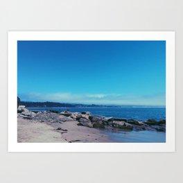 Capitola Beach Art Print