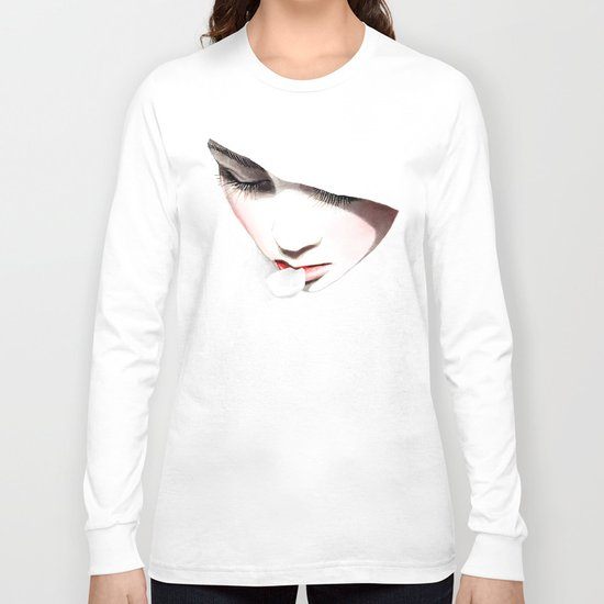 Cherry blossoms girl Long Sleeve T-shirt