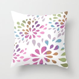 Colourful drops Throw Pillow
