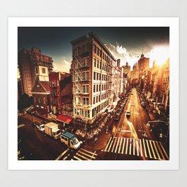 chinatown in manhattan Art Print