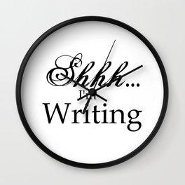 Shhh... I'm Writing Wall Clock