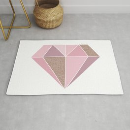 Shades of rose gold diamond Rug