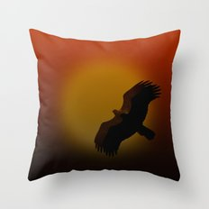 Shadow flight Throw Pillow