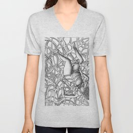 Capitalism is Like a Spider the Web is Getting Tighter Unisex V-Neck