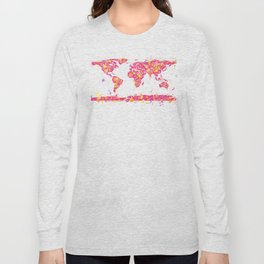 Graffiti World Map Long Sleeve T-shirt