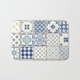 Blue Ceramic Tiles Bath Mat