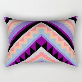 Wavy Chevron - Peach Plum Rectangular Pillow