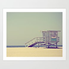 Lifeguard Stand Art Print