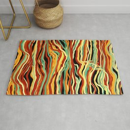 Falling Colorful Lines Rug