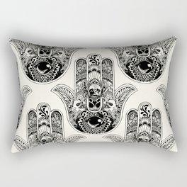 Hamsa Hand French Bulldog Rectangular Pillow